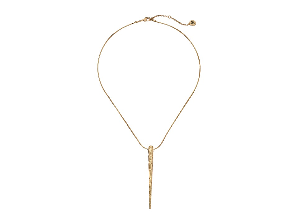 Sam Edelman - Crinkle Spike Pendant Necklace (Gold) Necklace