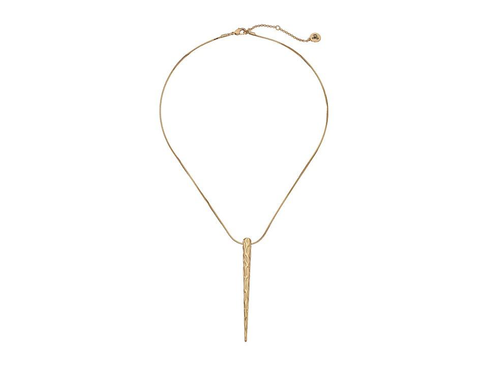 Sam Edelman - Crinkle Spike Pendant Necklace (Gold) Necklace