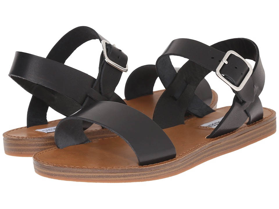 Steve Madden - Bestii (Black Leather) Women's Sandals