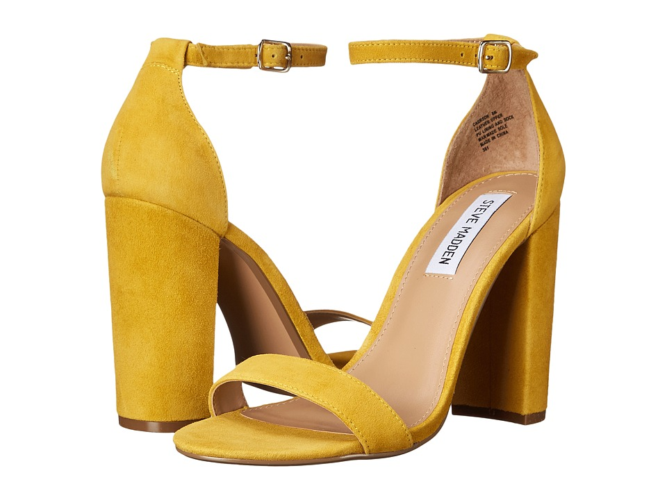Steve Madden - Carrson (Yellow Suede) High Heels