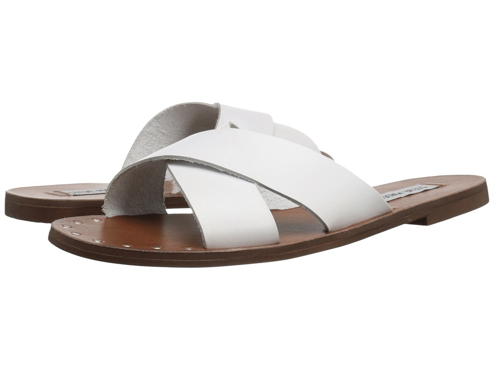 Steve Madden - Dryzzle (White Leather) Women