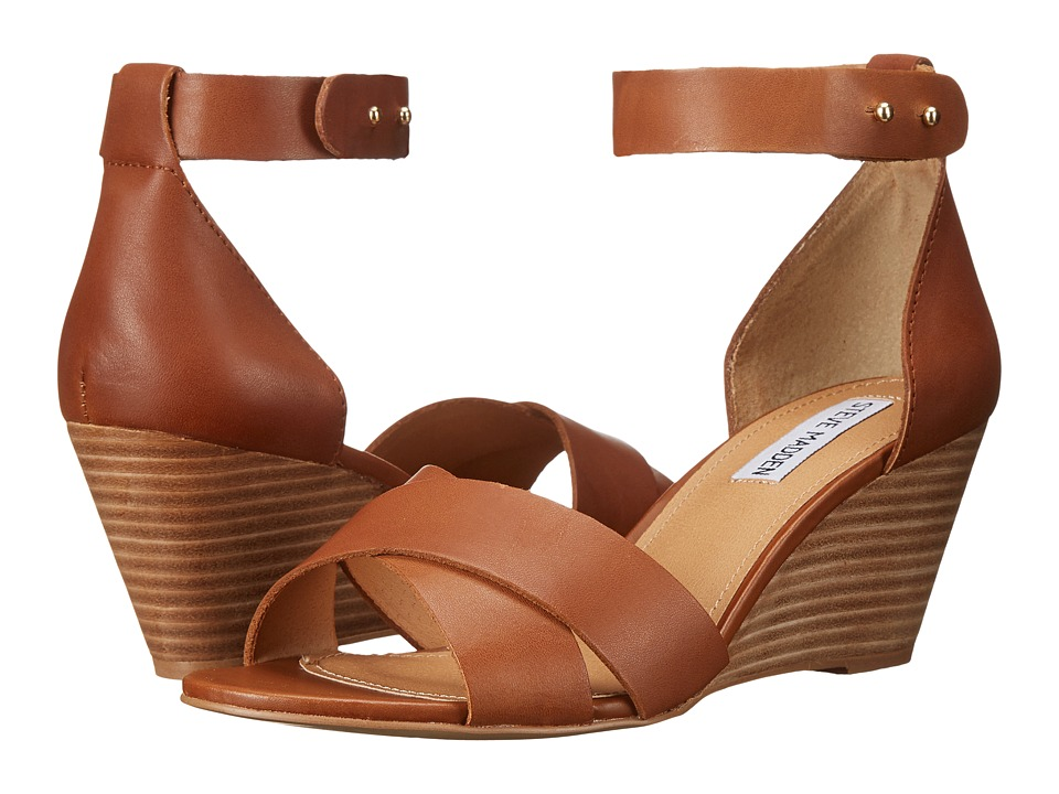 Steve Madden - Nilla (Cognac Leather) Women's Wedge Shoes