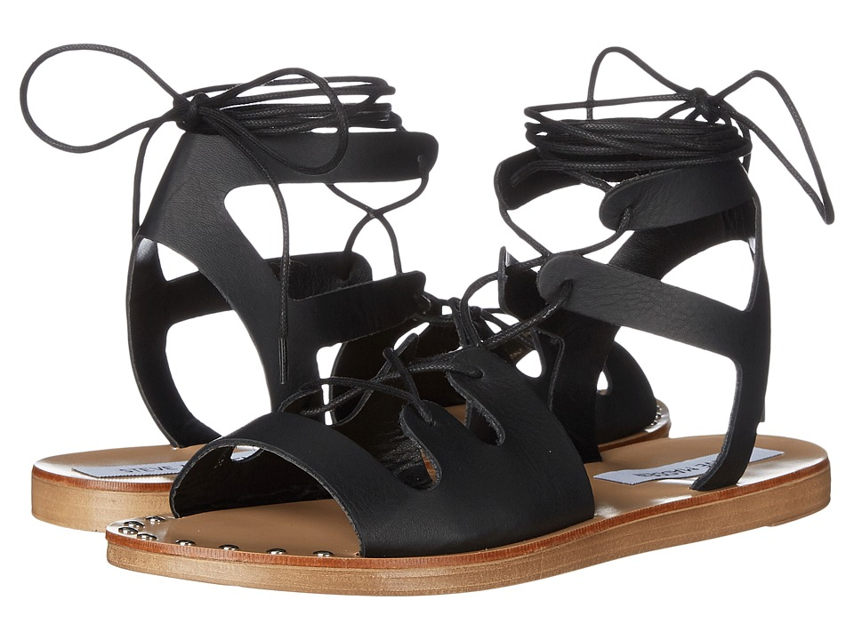 Steve Madden - Rella (Black Leather) Women's Sandals