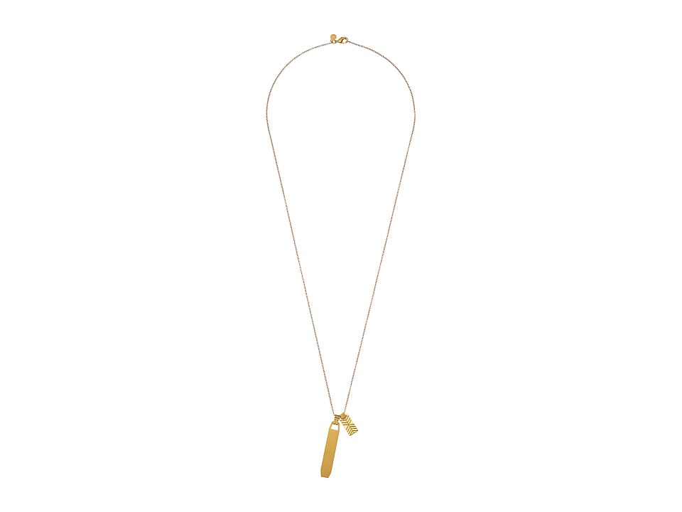 gorjana - Billie Etched Necklace (Gold) Necklace