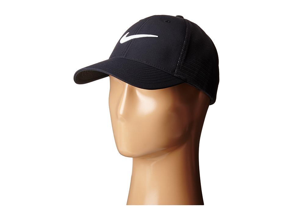 Nike - Legacy 91 Tour Mesh Cap (Black/Black/White) Caps