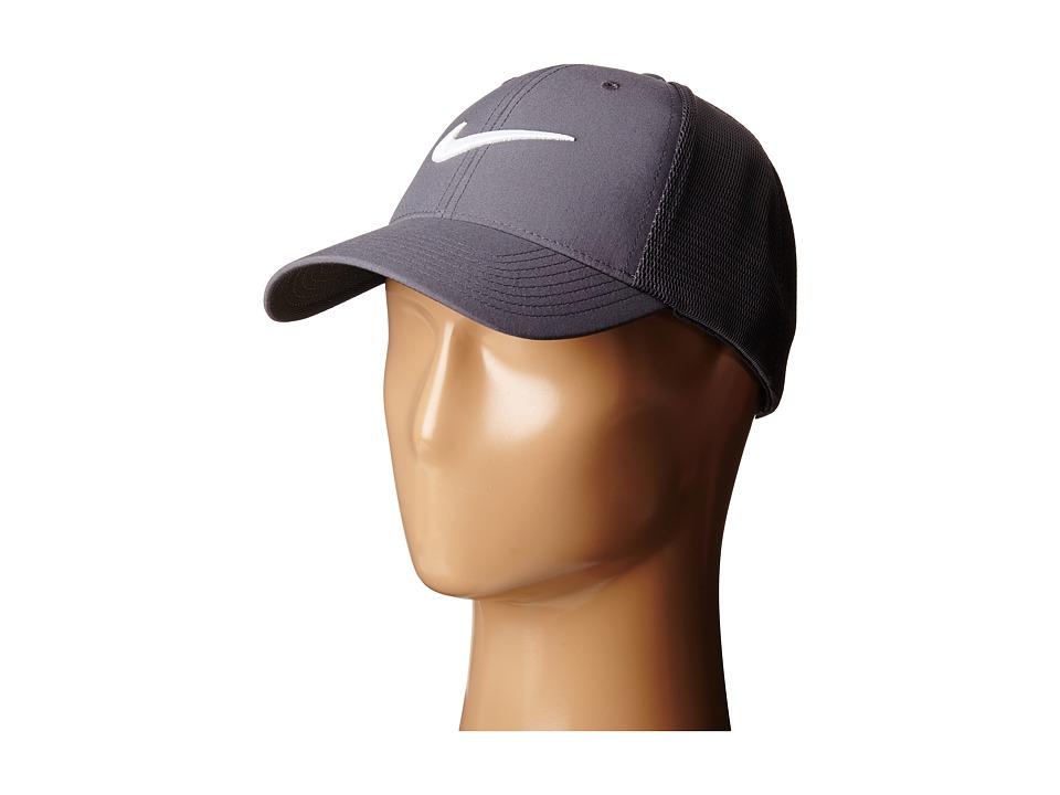Nike - Legacy 91 Tour Mesh Cap (Dark Grey/Dark Grey/White) Caps