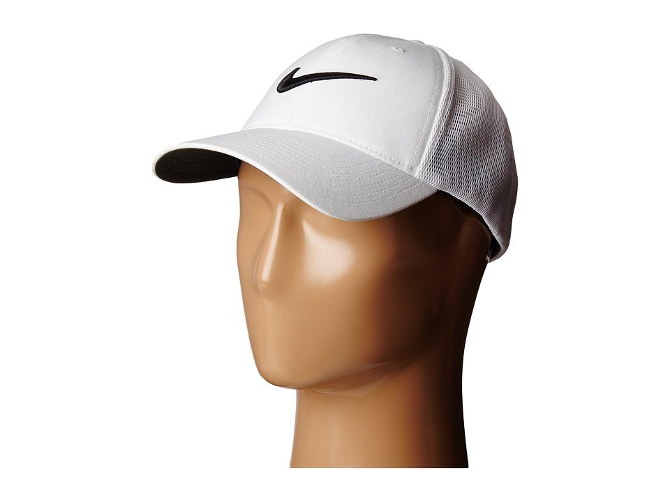 Nike - Legacy 91 Tour Mesh Cap (White/White/Black) Caps