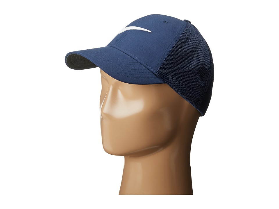 Nike - Legacy 91 Tour Mesh Cap (Midnight Navy/Midnight Navy/White) Caps