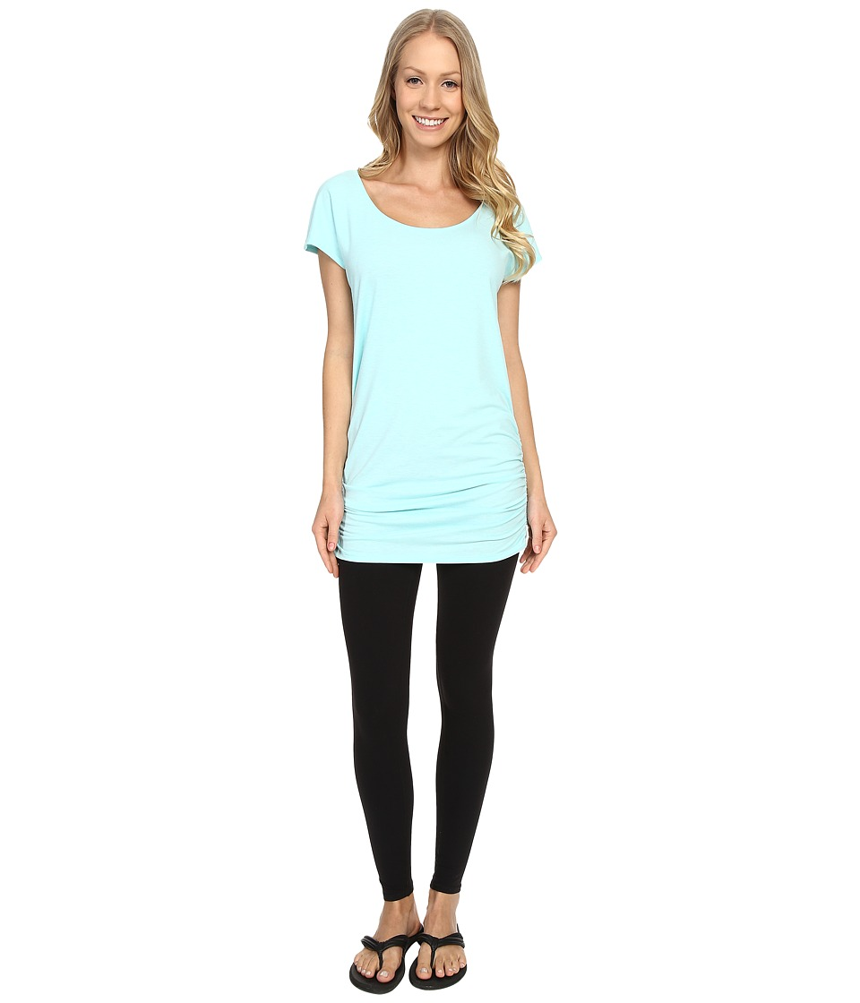 Lucy - Yoga Girl Tunic Top (Mist Green Heather) Women's Workout