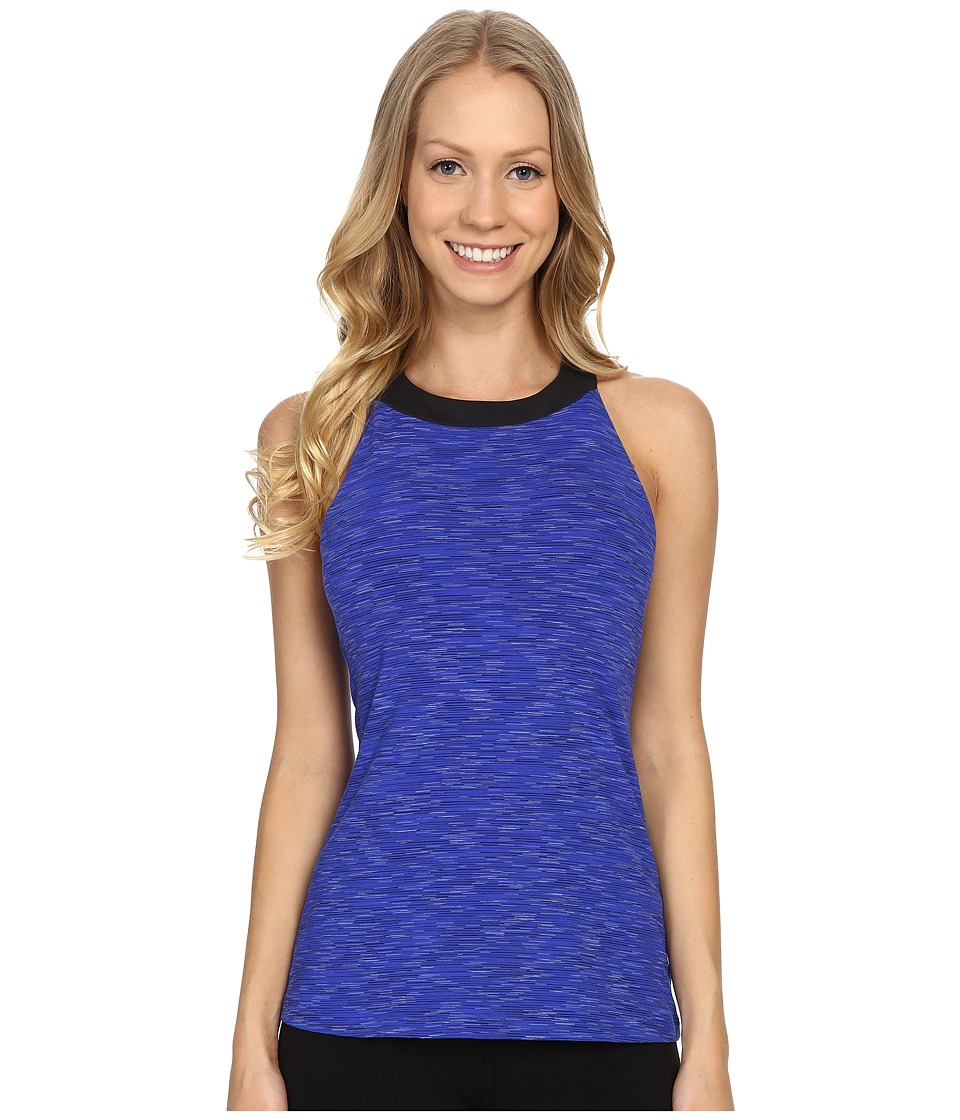 Lucy - Inner Light Top (Sapphire Blue Spacedye) Women's Workout