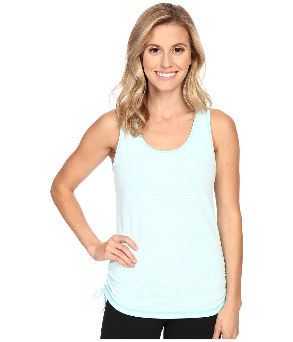 Lucy - Sleeveless Dashing Stripes Top (Mist Green Stripe) Women's Sleeveless