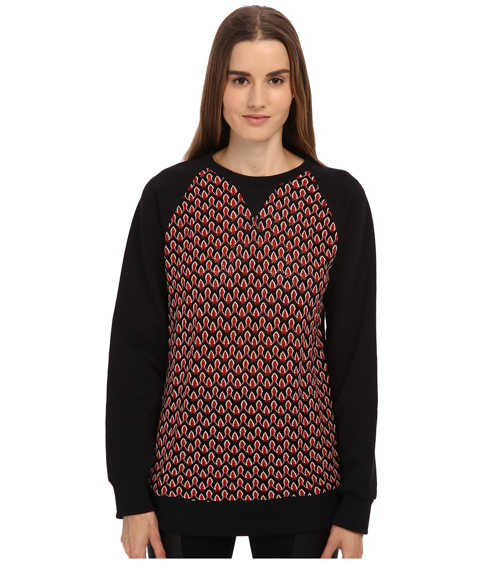 NO KA'OI - Pihi Top (Black) Women's Long Sleeve Pullover