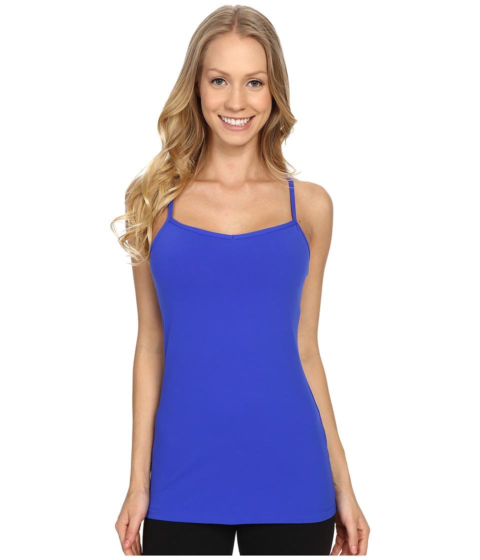 Lucy - Yoga Siren Racerback (Sapphire Blue) Women's Sleeveless
