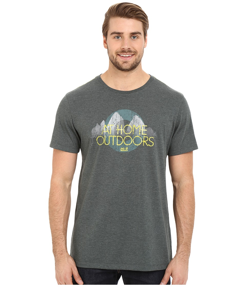 Jack Wolfskin - Slogan Heather T (Greenish Grey) Men's T Shirt