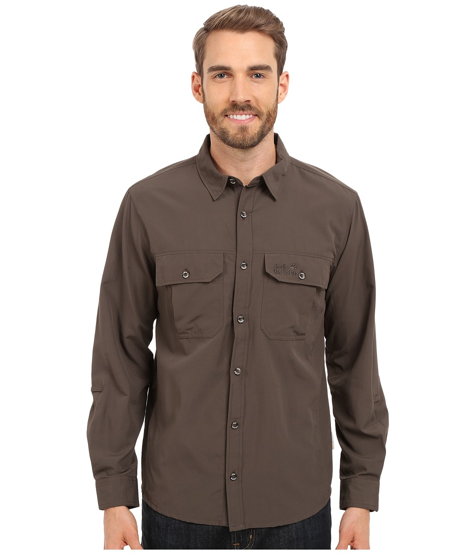 Jack Wolfskin - Brightwater Chill Shirt (Olive Brown) Men's Clothing