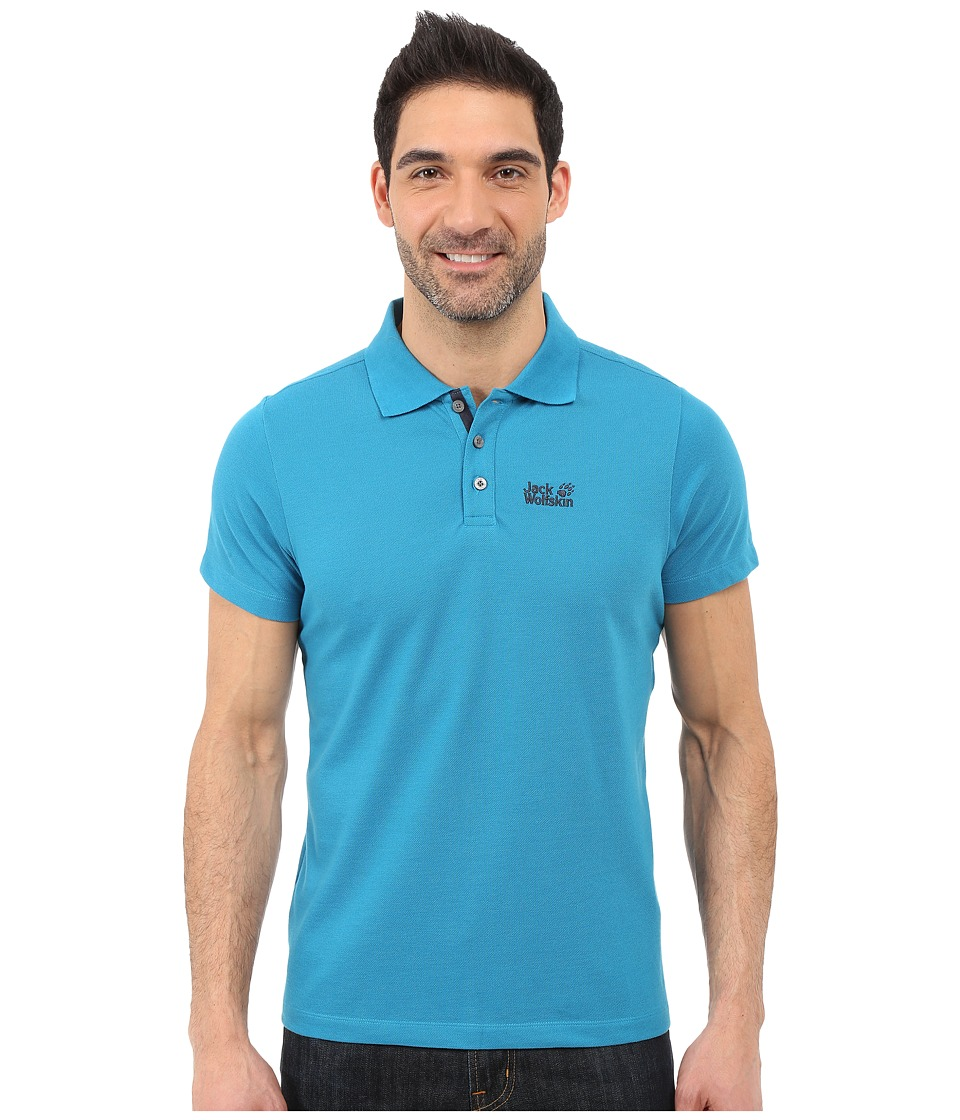 Jack Wolfskin - Pique Function 65 Polo (Dark Turquoise) Men's Clothing