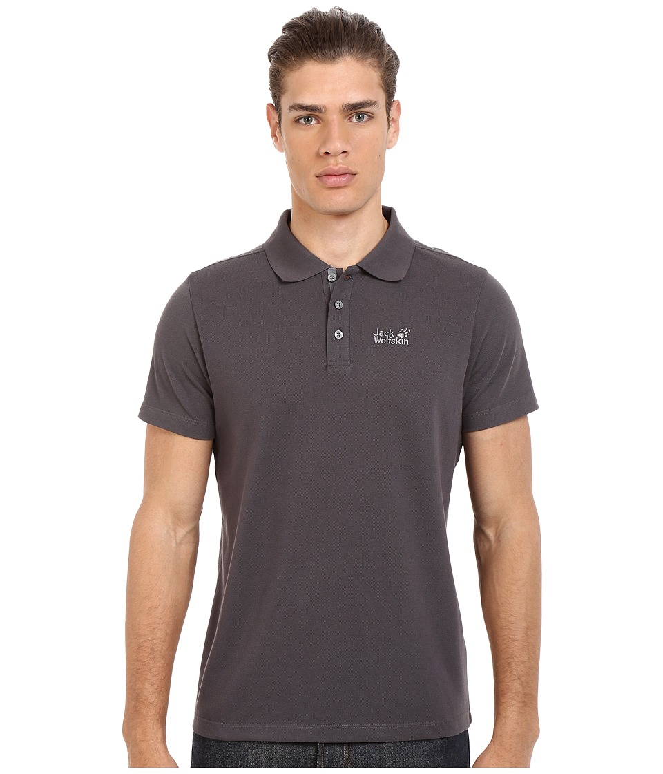 Jack Wolfskin - Pique Function 65 Polo (Night Blue) Men's Clothing