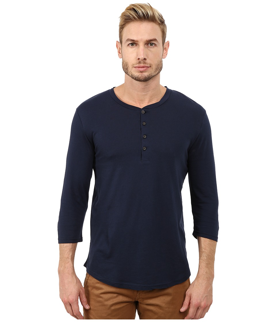 Alternative cotton modal narrows henley midnight men 39 s for Modal t shirts mens