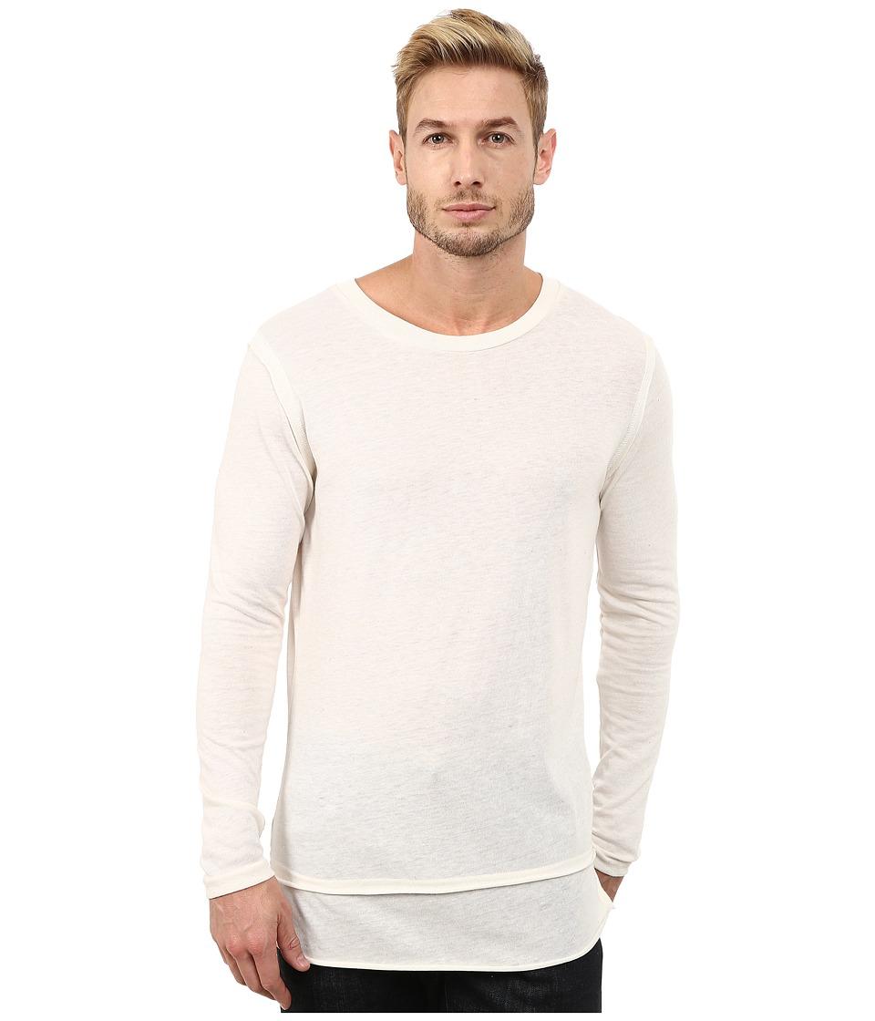 Alternative - Eco Jersey Layover T-Shirt (Eco Ivory) Men's T Shirt