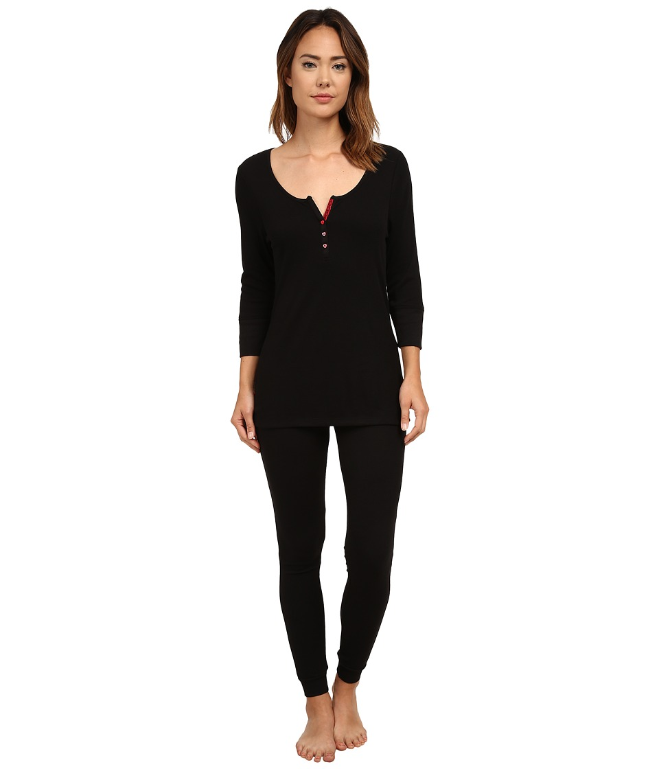 Betsey Johnson - Rib Pajama (Raven Black) Women's Pajama