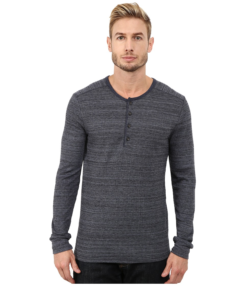 Alternative - Eco Space Dyed Thermal Frontier Henley (Midnight) Men's T Shirt