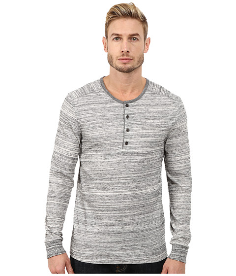 Alternative - Eco Space Dyed Thermal Frontier Henley (Urban Grey) Men