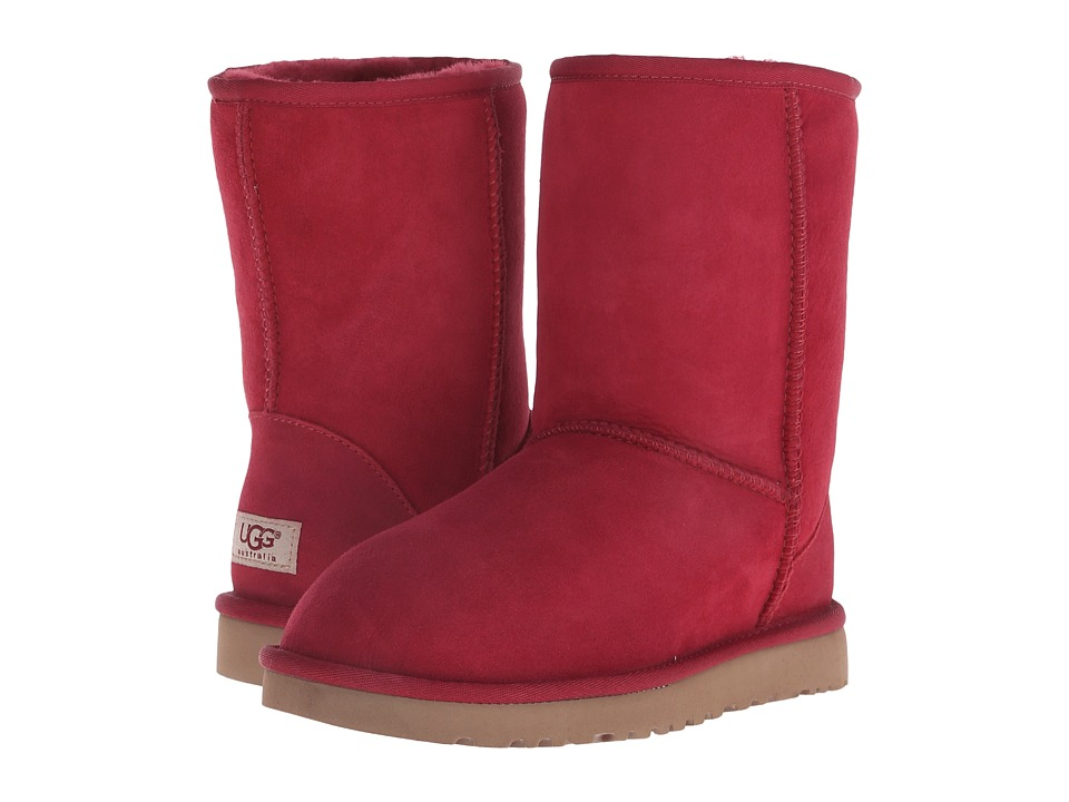 UGG - Classic Short (Burgundy Wine) Women's Pull-on Boots