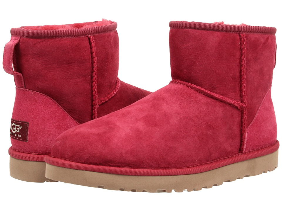 UGG - Classic Mini (Burgundy Wine) Women's Pull-on Boots