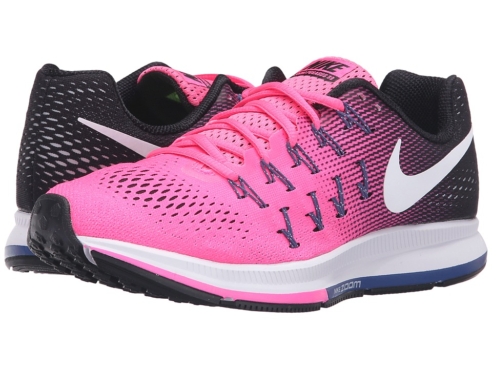 Nike - Air Zoom Pegasus 33 (Pink Blast/Black/Dark Purple Dust/White) Women's Running Shoes