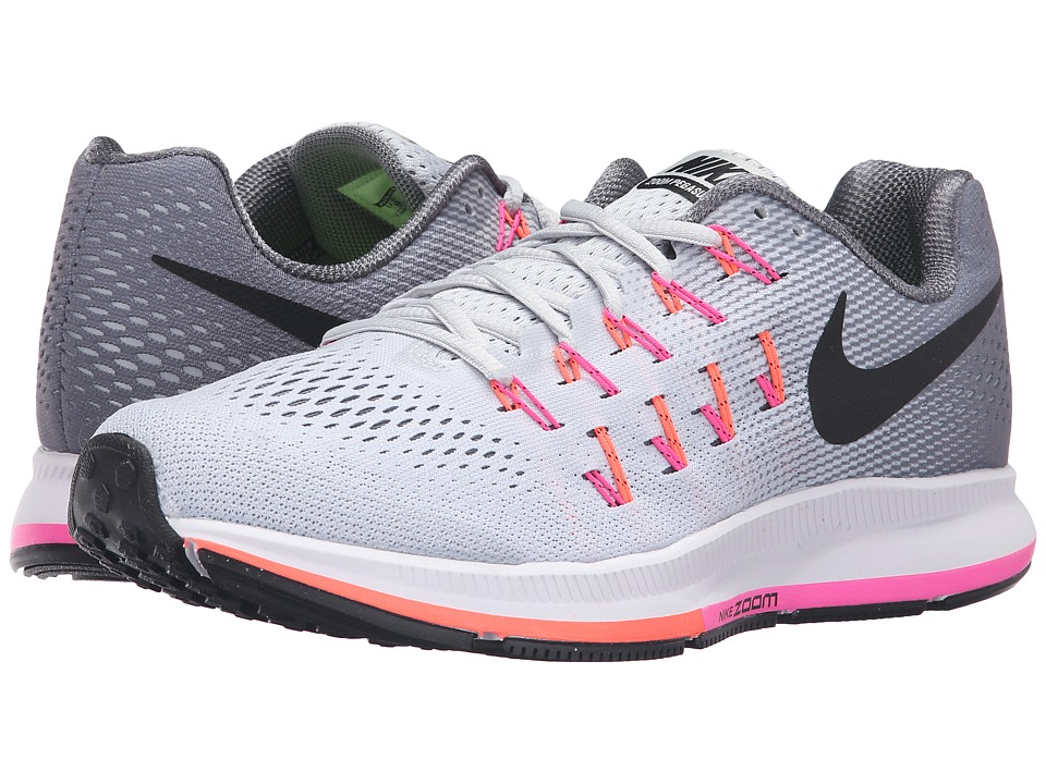 Nike - Air Zoom Pegasus 33 (Pure Platinum/Cool Grey/Pink Blast/Black) Women's Running Shoes