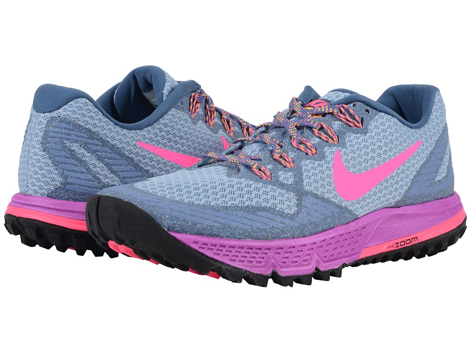 Nike - Air Zoom Wildhorse 3 (Ocean Fog/Hyper Violet/Laser Orange/Hyper Pink) Women's Running Shoes