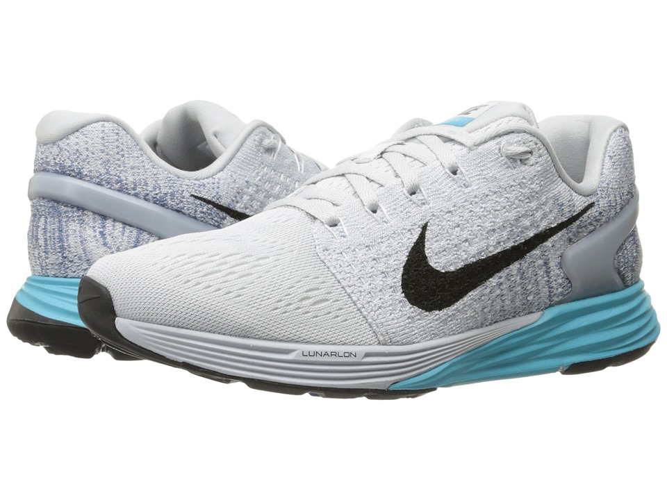 Nike - Lunarglide 7 (Pure Platinum/Gamma Blue/Ocean Fog/Black) Women's Running Shoes