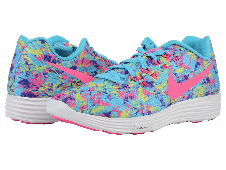 Nike - Lunartempo 2 Print (Gamma Blue/Volt/Persian Violet/Pink Blast) Women's Running Shoes
