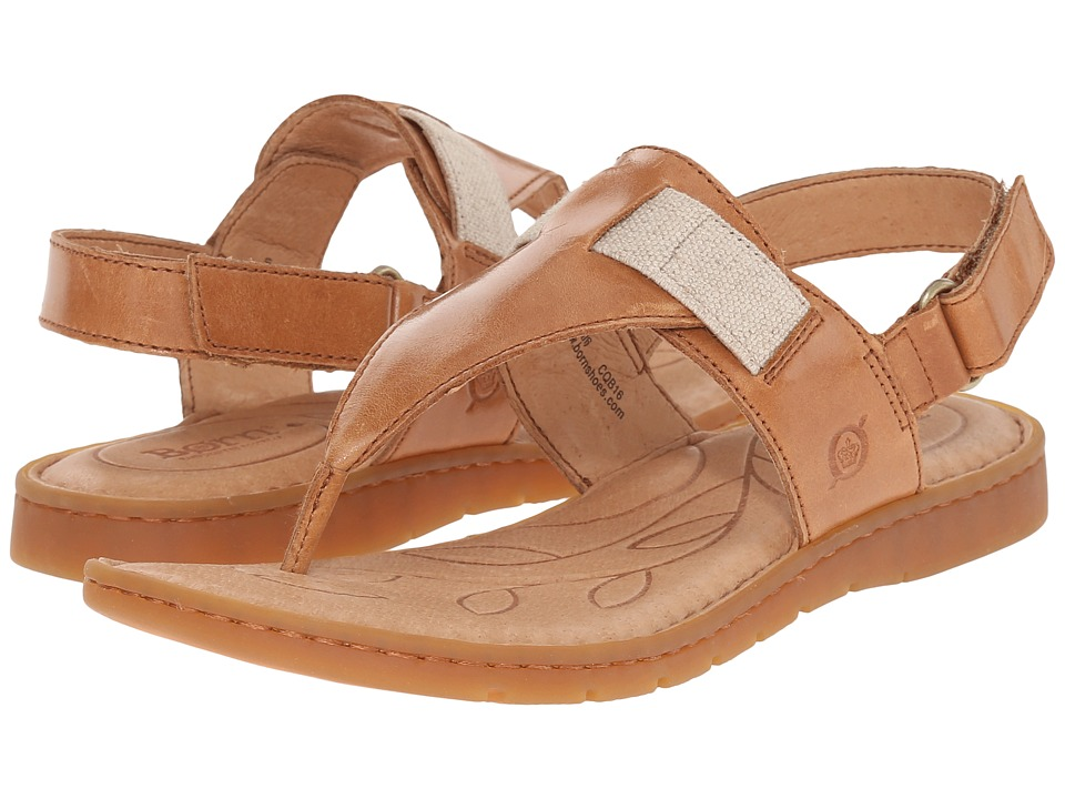 Born - Belluno (Nut Full Grain Leather) Women's Sandals