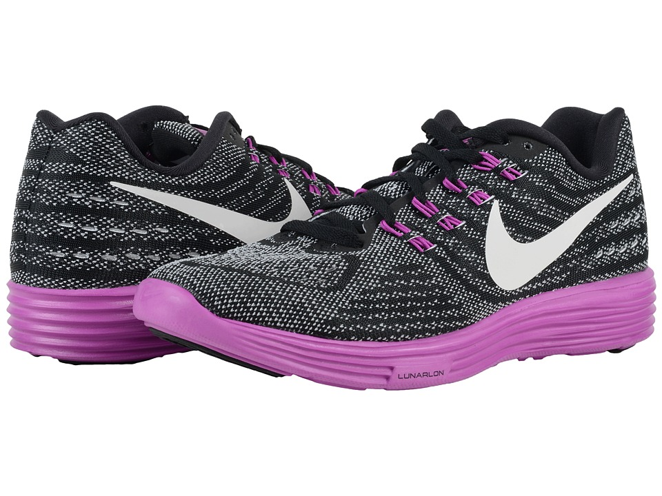 Nike - Lunartempo 2 (White/Hyper Violet/Black/White) Women's Running Shoes