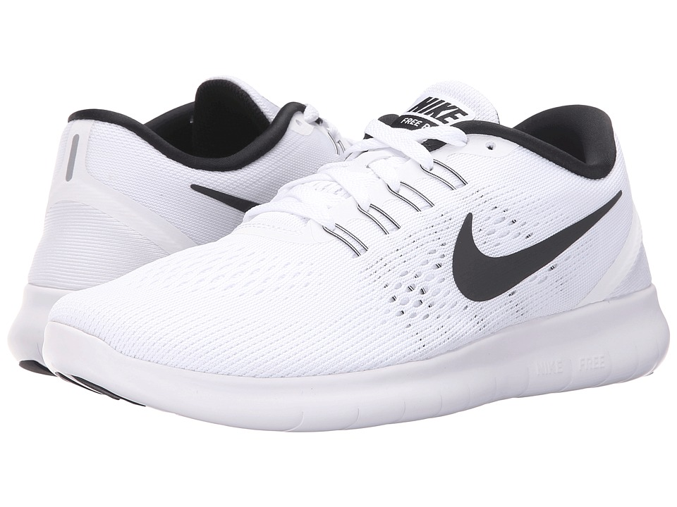 Nike - Free RN (White/Black) Women's Running Shoes