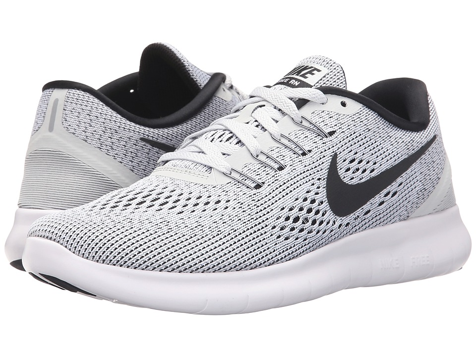 sports shoes 6107f 9256c mens nike free run flyknit 2018 pure platinum black white  upc 886551546651
