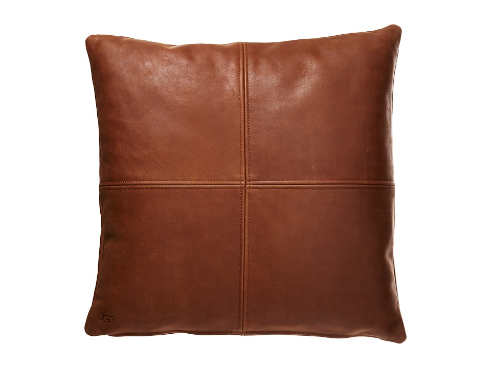 UGG - Windowpane Leather Pillow - 20 (Sugar Pine) Sheets Bedding