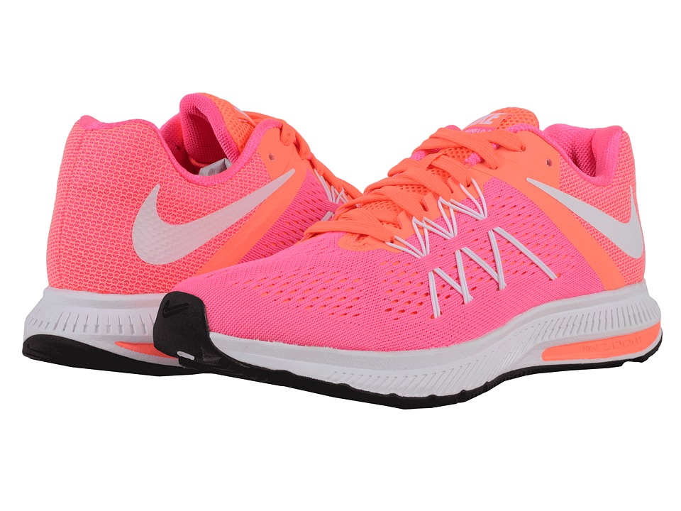 Nike - Zoom Winflo 3 (Pink Blast/Bright Mango/White) Women's Running Shoes