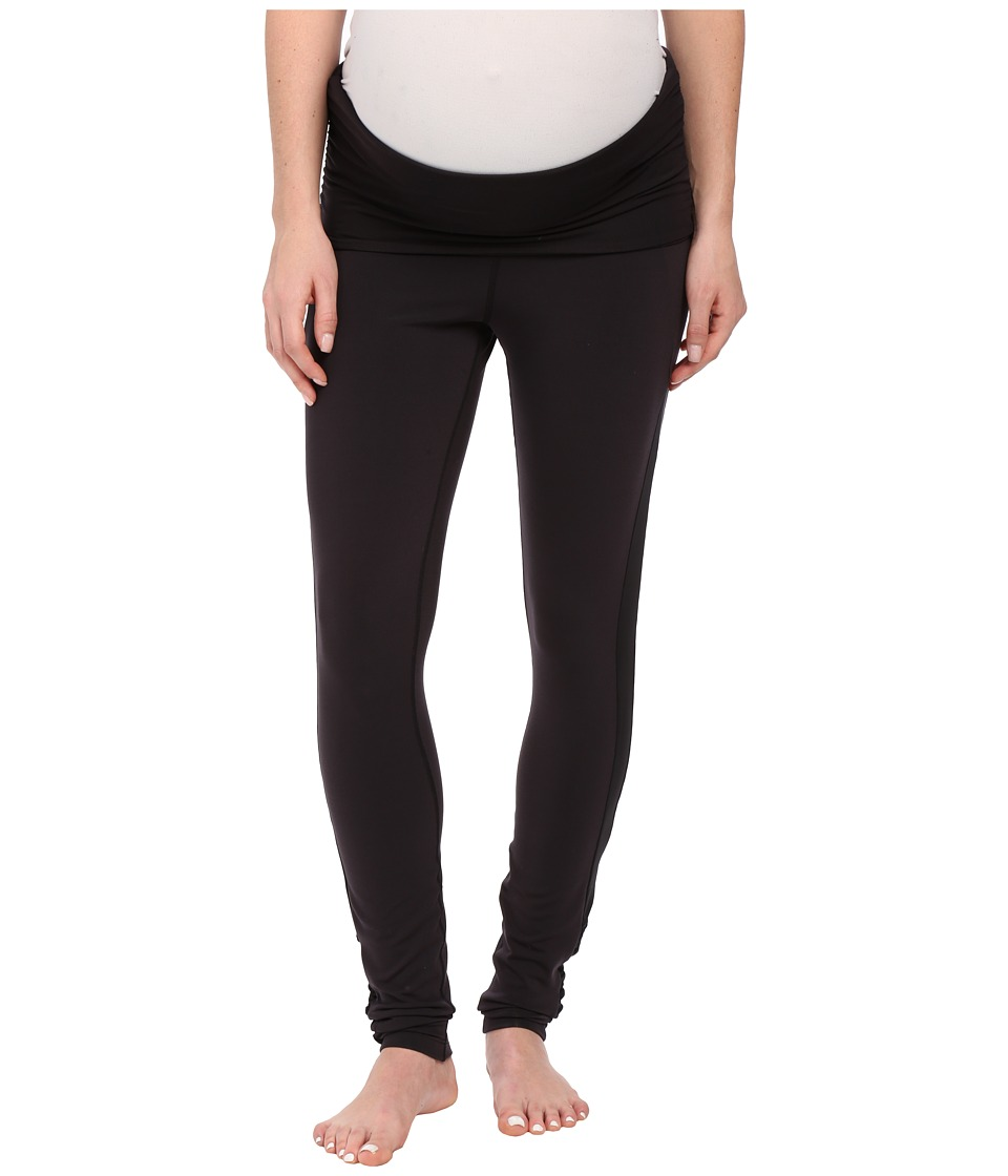 COZY ORANGE - Maternity Juno Leggings (Raven Black/Raven Black Mesh) Women