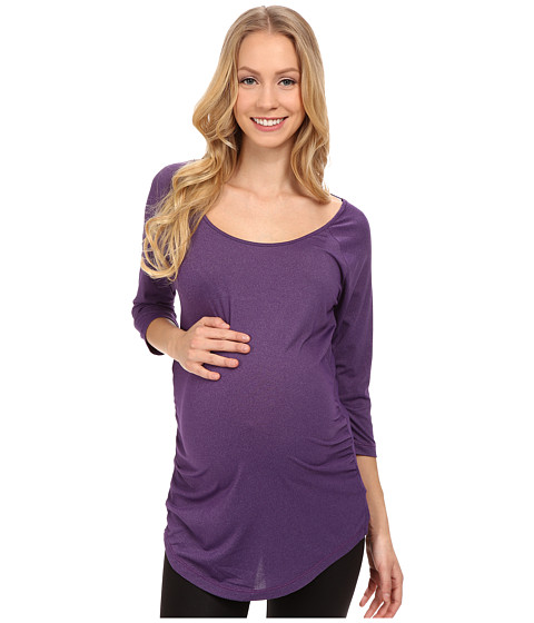 COZY ORANGE - Maternity Rue Top (Raven Black) Women