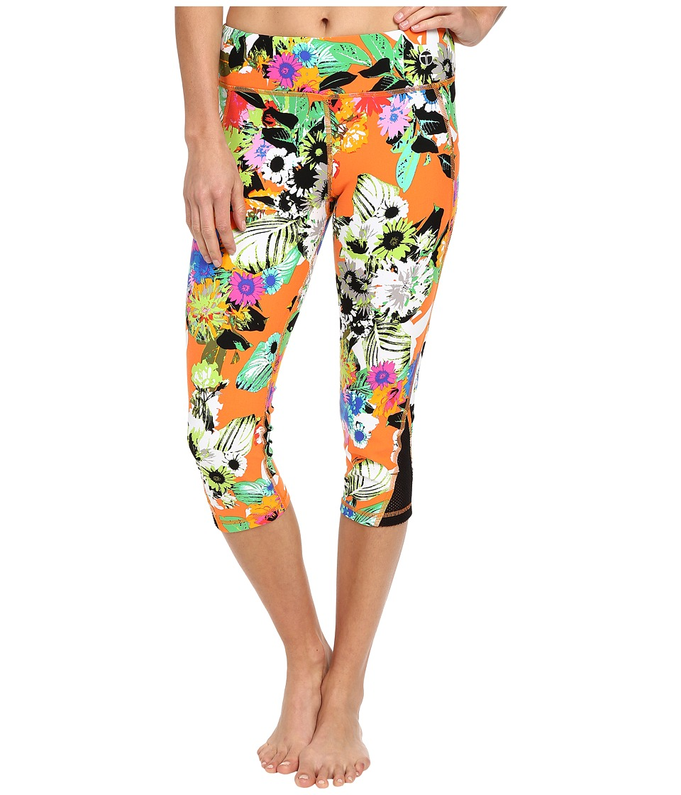 Trina Turk - Pop Floral Mid Length Leggings (Multi) Women's Workout