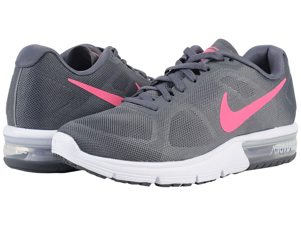 Nike - Air Max Sequent (Dark Grey/White/Black/Hyper Pink) Women's Running Shoes