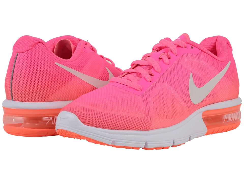 Nike - Air Max Sequent (Pink Blast/Bright Mango/Vivid Pink/White) Women's Running Shoes
