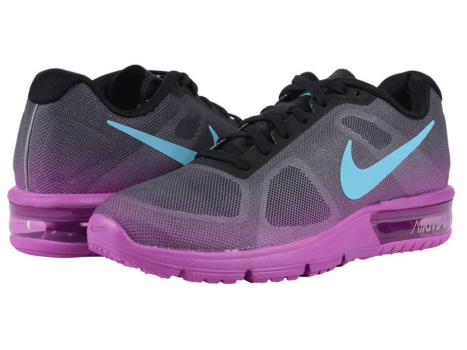 Nike - Air Max Sequent (Black/Hyper Violet/Dark Grey/Gamma Blue) Women's Running Shoes