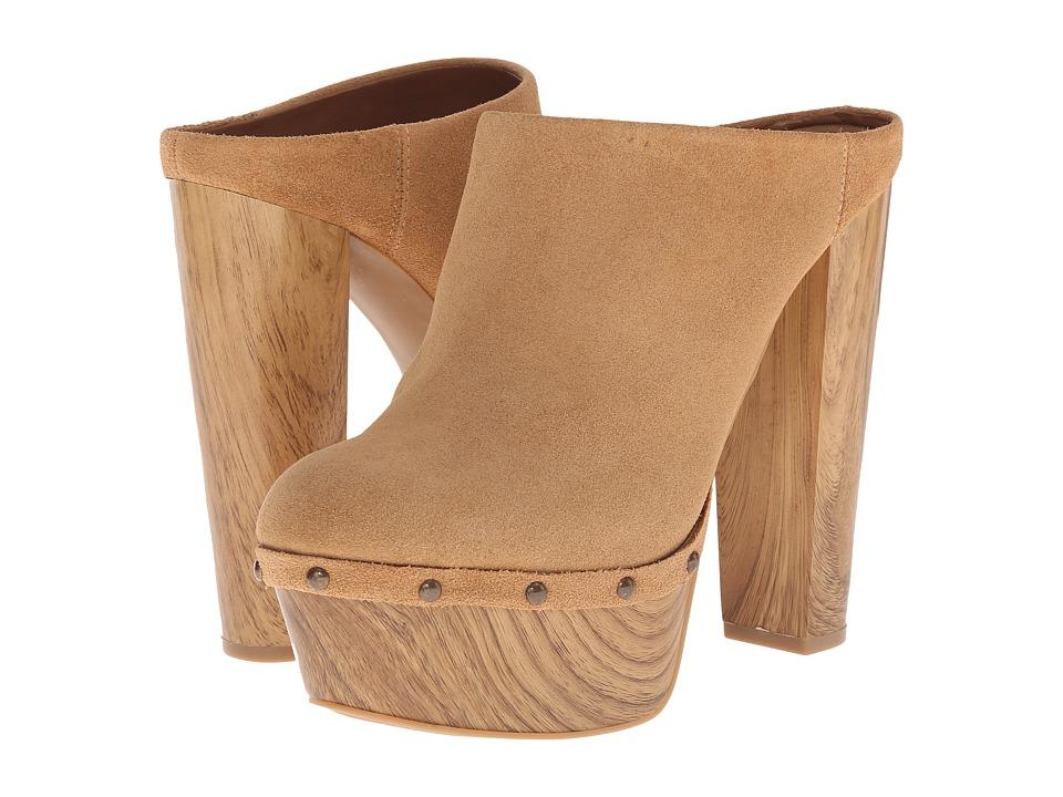 Jessica Simpson - Denley (Dakota Tan Split Suede/Beechwood Wood Heel) High Heels