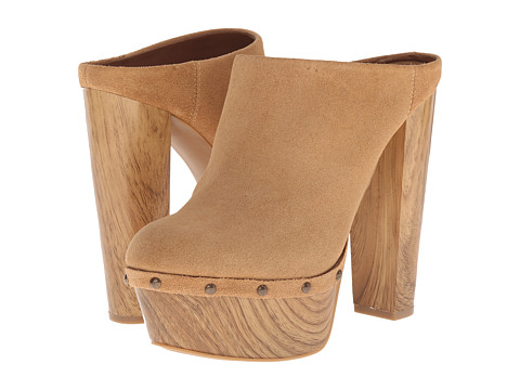 Jessica Simpson - Denley (Dakota Tan Split Suede/Beechwood Wood Heel) High Heels