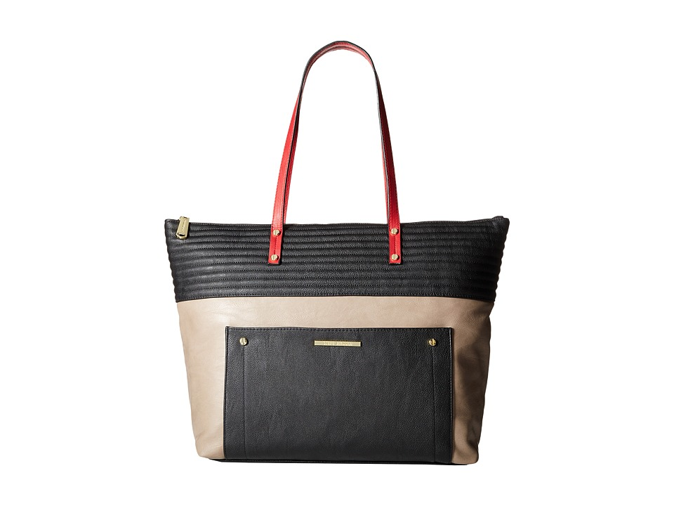 Steve Madden - Bstevie Oversized Tote (Black/Taupe/Red Distressed) Tote Handbags