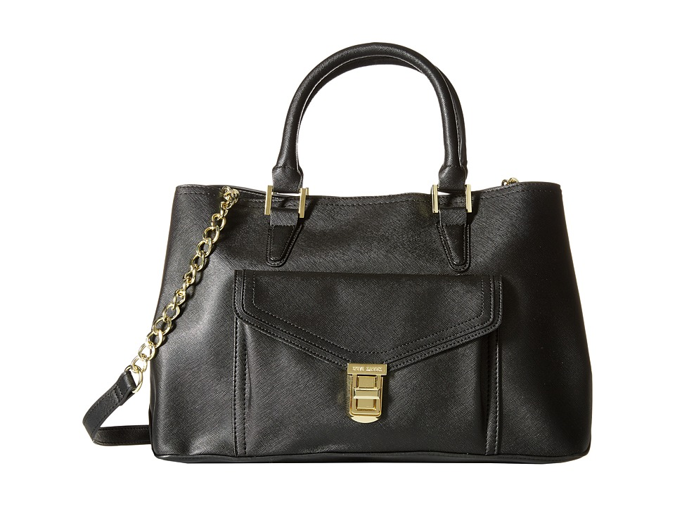 Steve Madden - Bmilo East/West Tote (Black Saffiano) Tote Handbags