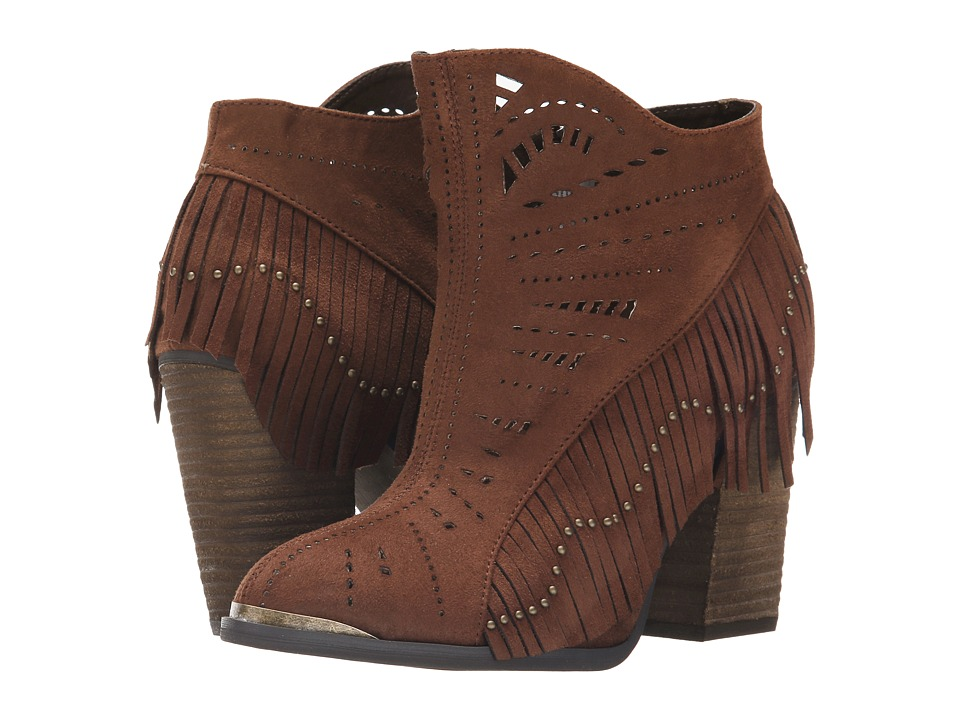 Not Rated - Fierce Fringe (Rust) Women's Dress Boots